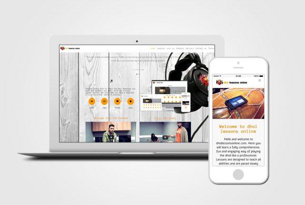 Online Music Lesson web design