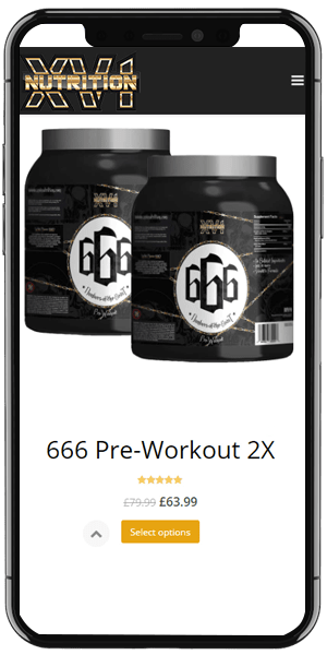 Supplement online shop mobile design
