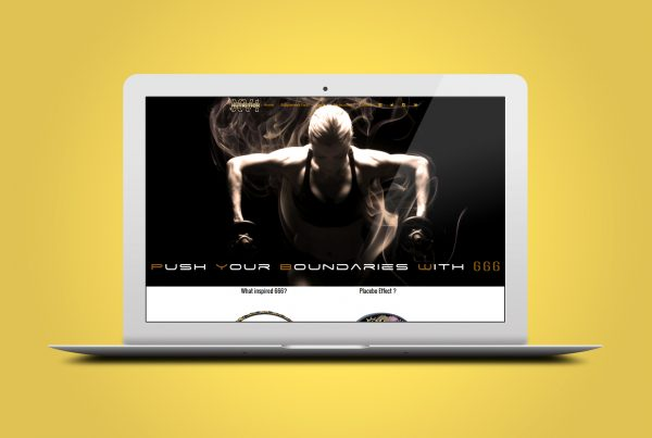 Supplement online shop Web Design