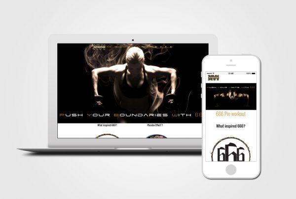 Supplement online shop Web Design