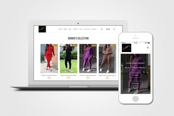 clothing online shop web design