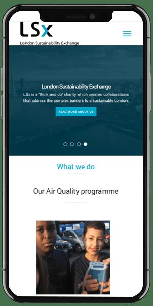charity web design mobile