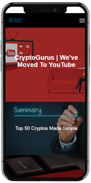 cryptocurrency investment web design mobile